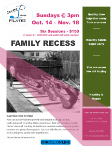 Family Recess Flyer
